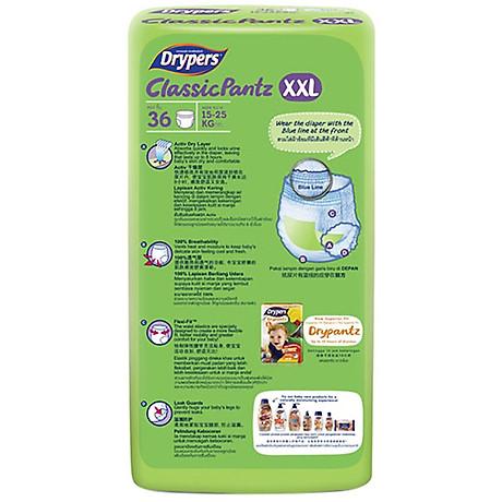 Tã Quần Drypers ClassicPantz Gói Đại XXL36 (36 Miếng) + Tặng 1 Gói Cùng Loại 2
