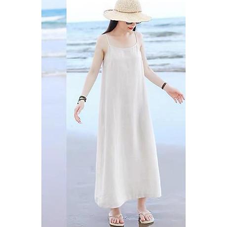 Đầm suông 2 dây đi biển LAHstore, chất thô mềm mát, thời trang phong cách Hàn Quốc 2