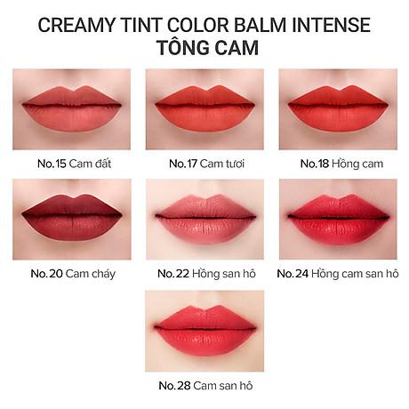 Son Bút Chì 3 Trong 1 Cho Bờ Môi Mềm Mượt Mamonde Creamy Tint Color Balm Intense (2.5g) 4