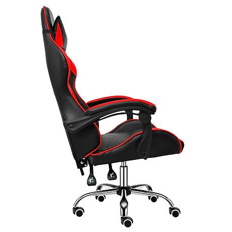 BG Ghế chơi game cao cấp dành cho các game thủ, chân xoay ngã 135 độ Mẫu E02N01 màu đỏ phối đen (Hàng nhập khẩu) 3