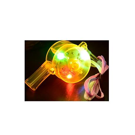 Còi nhựa trang bị đèn LED nháy 3 chế độ độc đáo - Trang bị thể thao, dã ngoại cho bạn - Giao màu ngẫu nhiên 1