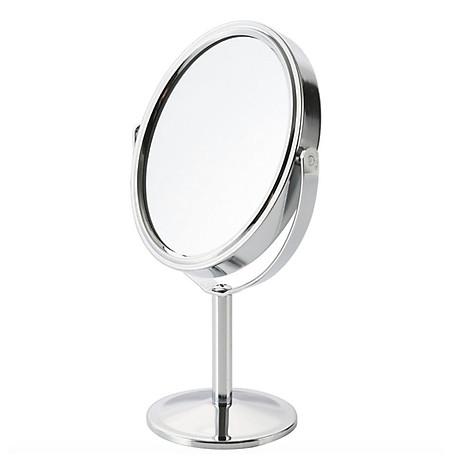 Gương trang điểm để bàn đứng thép không gỉ sang trọng 1