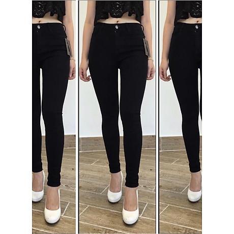 [ SIZE ĐẠI 60kg 90kg] Quần jean dài đen tuyền big size co dãn mạnh vải jean mềm lưng cao 2700 có rách gối 1