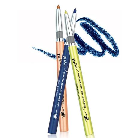 Chì mí kim tuyến Mira Glitter Auto Eyeliner Pen Hàn Quốc No.305 Dark brown tặng kèm móc khoá 4