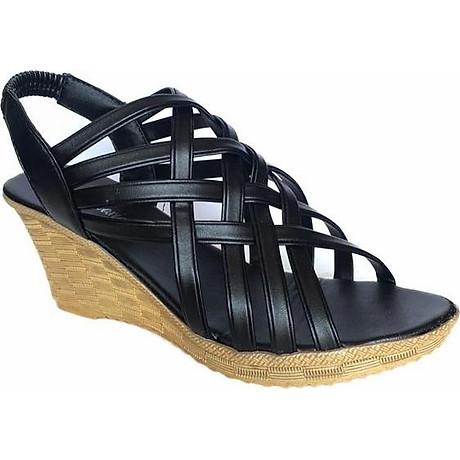 Giày Sandal Nữ Đế Xuồng Rọ C63 5