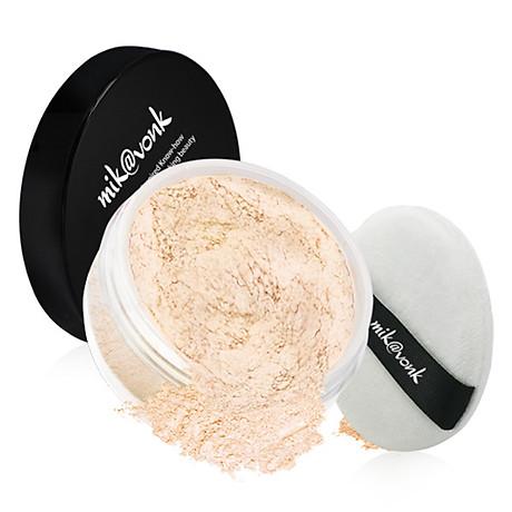 Phấn phủ bột kiềm dầu Mik vonk Blooming Face Powder Hàn Quốc 30g NB19 Natural Beige tặng kèm móc khoá 5