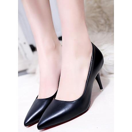 Giày cao gót nữ basic 7 phân da bò GCG03 2