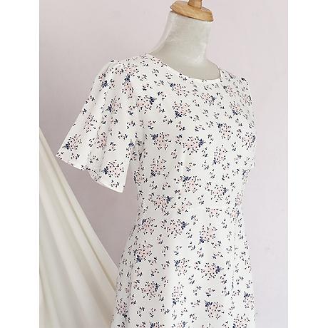 Đầm váy nữ dài hoa nhí, dáng xoè, đẹp nhẹ nhàng, đơn giản, ngọt ngào RD037.2 8