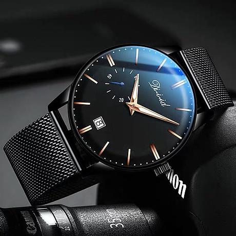 Đồng hồ nam cao cấp DIZIZID Dây Titanium Chạy Full 3 Kim Và Lịch Ngày - High Fashion Design DIZ3KD9 2
