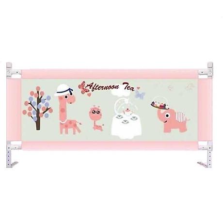 Chắn giường bảo vệ Bé mẫu mới nhất 2020 Màu Hồng Hươu, số lượng 01 thanh- tặng gói khăn sữa cao cấp 1