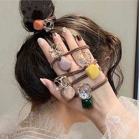 Máy uốn tóc đa năng tạo độ xoăn có sấy khí 3 in1 tặng kèm dây buộc tóc đính đá ( hình ngẫu nhiên) 7