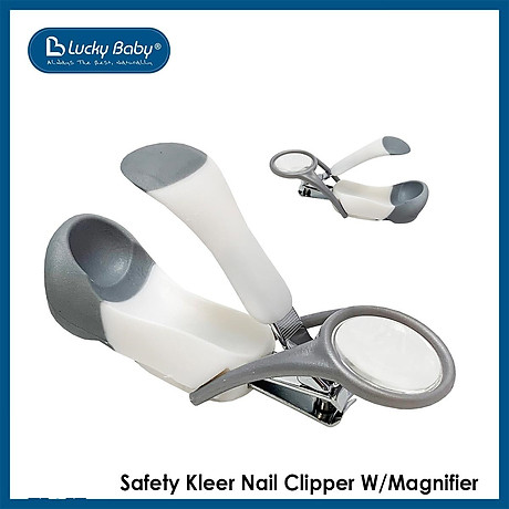 Bấm cắt móng cho bé có kính lúp Lucky Baby - Safety Kleer Nail Clipper W Magnifier 609439 2