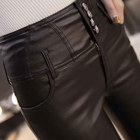 Quần da nữ cao cấp lưng cao gọn bụng kiểu dáng phong cách - NP663 5