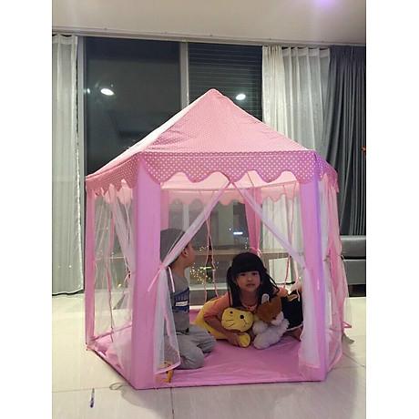 Lều công chúa cho bé yêu tặng kèm đèn nháy sao 3 mét trang trí 4