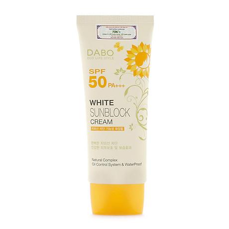 Kem Chống Nắng Dưỡng Da Dabo White Sunblock Cream SPF 50 PA+++ (70ml) - Hàn Quốc Chính Hãng 2