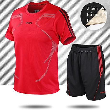 Bộ quần áo thể thao nam ngắn tay nhanh khô thể dục thể thao thoáng khí - NB001 4