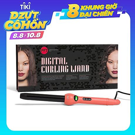 Máy Uốn Tóc Kỹ Thuật Số PYT Digital Curling Wand 25mm - Màu Cam - Kèm Găng Tay Chịu Nhiệt - Công Nghệ Nhiệt Hồng Ngoại Xa 1