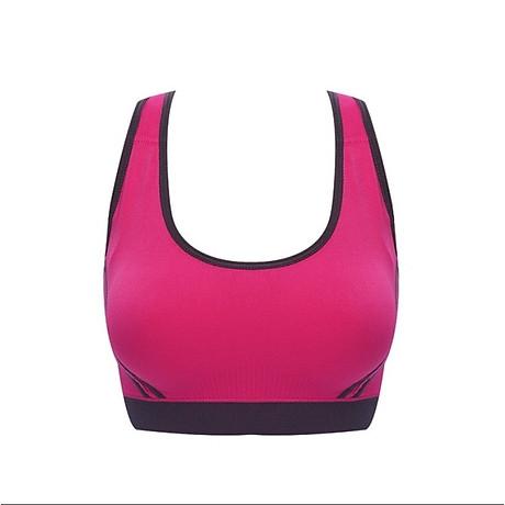 Bô quần áo fitness tập yoga, tập gym nữ cao cấp áo hai dây đan chéo sau lưng SR05 YG BH bộ hồng 4