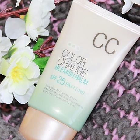 Kem nền hiệu chỉnh màu da và chống tia UV SPF 25 PA+ + Hàn Quốc welcos color change blemish balm (welcos) 2