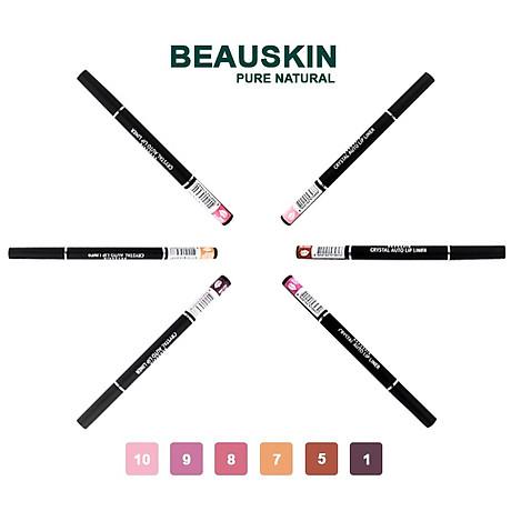 Chì kẻ môi 2 đầu bền màu Beauskin Crystal Auto Lip Liner 05 (5g) - Hàn Quốc Chính Hãng 4