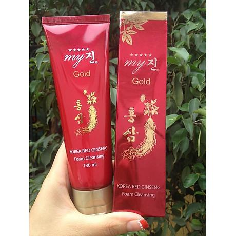 Sữa rửa mặt chống lão hoá hồng sâm My Gold Korea Red Gingseng 130ml Tặng Móc khoá 7