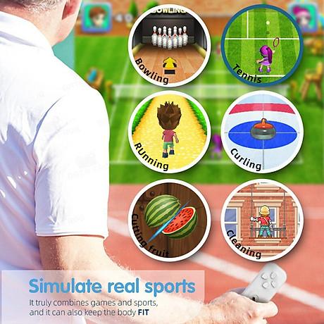 Máy chơi game điện tử HDMI Trò chơi somatosensory thể dục game điện tử hoạt động trong nhà 800 game NES và 30 game hoạt động thể chất. 3