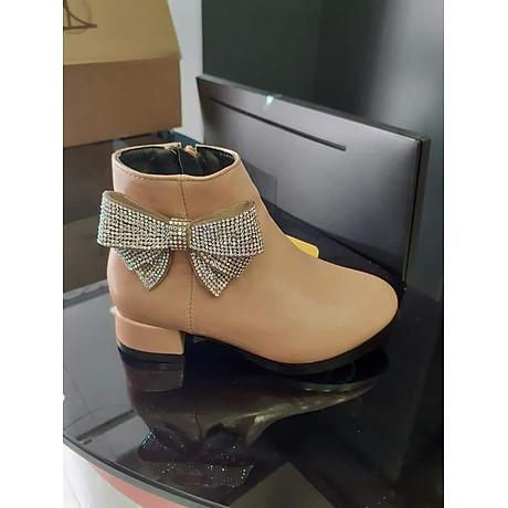 Giày Boots Nữ Đính Nơ Lấp Lánh - GBDN 1