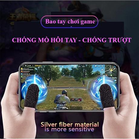 Bộ Găng Tay Cảm Ứng Chơi Game Điện Thoại Chống Mồ Hôi, Chống Trượt Gear Chuyên Game Mobile-4017- Hàng Nhập Khẩu 2