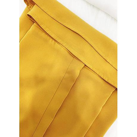 Áo sơ mi nữ cổng sở kiểu áo cột nơ cổ chữ v tay lật GOTI 3091 6