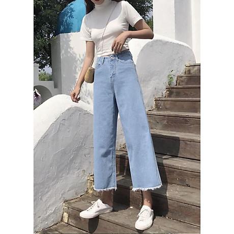 quần jean nữ, quần bò nữ ống rộng 2