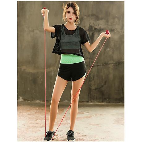 Set Bộ 3 đồ quần áo thun thể thao nữ áo ngoài zen năng động ( Đồ Tập Gym, Yoga, Aerobic ) mã 8808 7