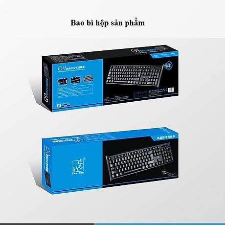 Bàn phím có dây Q9 dùng cho dân văn phòng, học sinh, sinh viên, chơi game 4