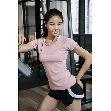 Áo thể thao nữ áo yoga ngắn tay vải khô nhanh phiên bản Hàn Quốc DX-034 4