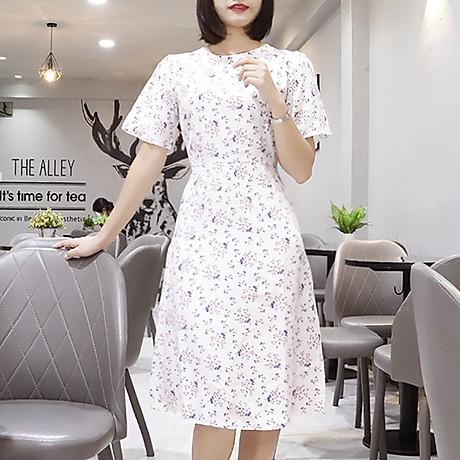 Đầm váy nữ dài hoa nhí, dáng xoè, đẹp nhẹ nhàng, đơn giản, ngọt ngào RD037.2 6