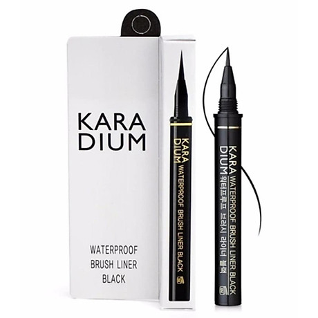 Bút Kẻ Viền Mắt Karadium Waterproof Brush Liner Black 0.55g 3