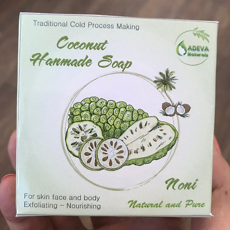 Xà phòng handmade Adeva Naturals - Xà bông Trái nhàu Noni (3 bánh - 100 gr 1 bánh) 4