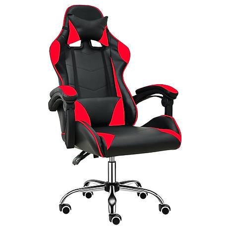 BG Ghế chơi game cao cấp dành cho các game thủ, chân xoay ngã 135 độ Mẫu E02N01 màu đỏ phối đen (Hàng nhập khẩu) 1
