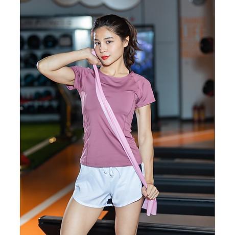 Áo thể thao nữ áo yoga ngắn tay vải khô nhanh phiên bản Hàn Quốc DX-034 1