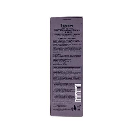 Sữa rửa mặt cao cấp Hàn Quốc cho da dầu than hoạt tính Benew Charcoal Foam Cleansing (100ml) Hàng Chính Hãng + Tặng bút bi mực nước 4
