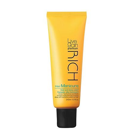 Màu Dưỡng Phủ Bóng Livegain Premium Rich Hair Manicure 240ml Hàn Quốc 1