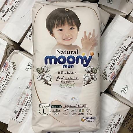 Bỉm quần Moony Natural size L36 nội địa Nhật 2