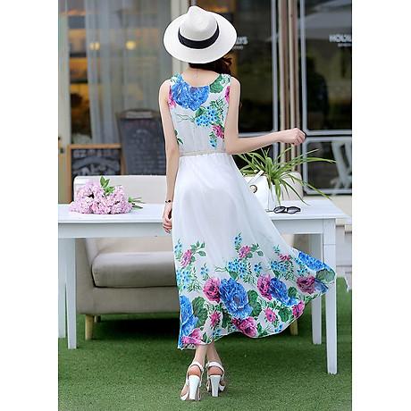 Đầm Maxi Hoa Hải Đường (Freesize) 2