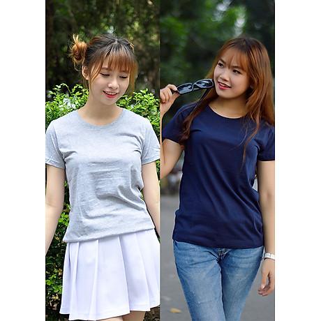 Combo 2 áo thun nữ thoát nhiệt Nhật Bản GOKING, form ôm tôn dáng, 100% cotton thoáng mát, thấm hút mồ hôi 1