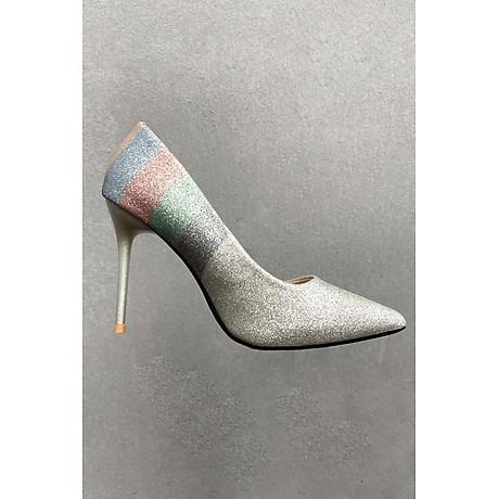 Giày Cao Gót Nữ 10p Phủ Nhũ 7 Màu 3