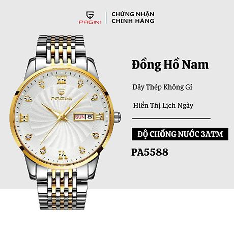 Đồng hồ nam PAGINI PA5588 dây thép kim dạ quang cao cấp chống nước 3ATM 1