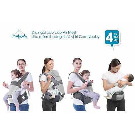 Địu ngồi cao cấp 4 tư thế chống vòng kiềng Comfy Baby 6