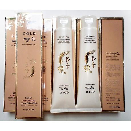 Sữa rửa mặt sâm vàng My gold ngăn ngừa lão hóa 120ml tặng kèm móc khóa 5