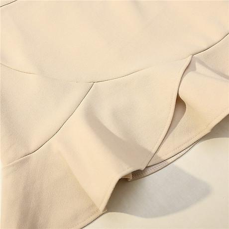 Chân váy công sở đẹp Louro L700, có lớp lót quần bên trong, dáng ngắn chữ A vẩy đuôi cá nhẹ, dễ kết hợp trang phục, đi làm đi chơi,tặng quần mặc trong váy cotton cao cấp 6