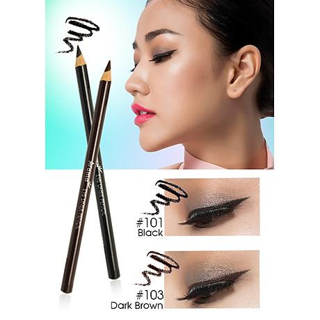 Chì vẽ mí mắt Aroma Eyeliner Pencil Hàn Quốc No.101 Black tặng kèm móc khoá 4