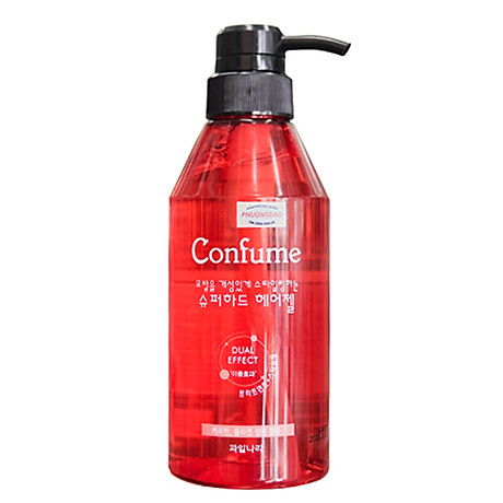 Gel đặc siêu cứng, khô nhanh giữ lọn xoăn Confume Super Hair Hàn Quốc 400ml + Móc khóa 3